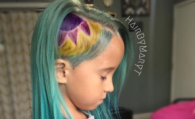 שיער חד קרן (צילום: פייסבוק)