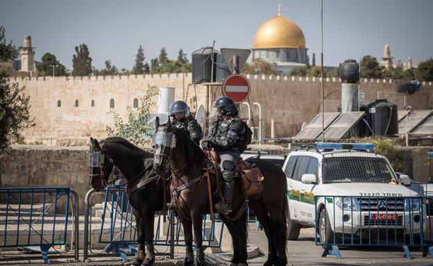 כוננות בירושלים (צילום: פלאש 90, הדס פארוש)