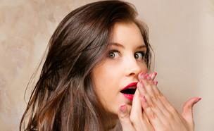 אישה מופתעת (צילום: shutterstock ,מעריב לנוער)