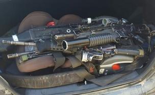 כלי נשק שנלקחו מבסיס צבאי בבדיקת פתע