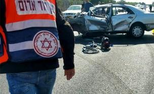 זירת התאונה, היום (צילום: אלון קוצי תיעוד מבצעי מדא)