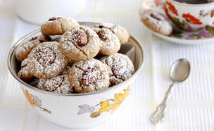 עוגיות טחינה ושקדים (צילום: נטלי לוין ,אוכל טוב)