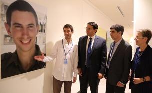 """תערוכת ציורים של הדר גולדין ז""""ל באו""""ם"""