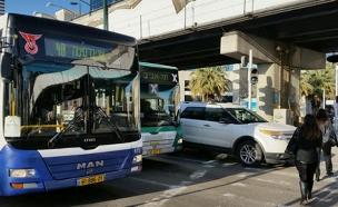 משעות הצהריים - אין תחבורה ציבורית (צילום: חדשות 2)