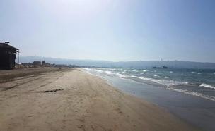 חוף הים של קריית חיים, היום (צילום: ניר לוינסקי, המשרד להגנת הסביבה)
