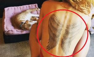 קעקוע של כנפיים על כל הגב (צילום: instagram ,מעריב לנוער)