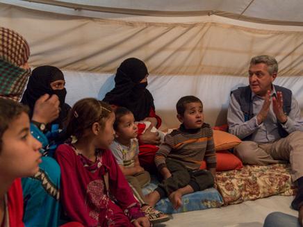 """""""אנשים פה טובים"""" מחנה הפליטים בעירק (צילום: UNHCR/Ivor Prickett)"""