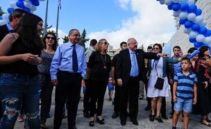 צפו: נשיא המדינה מארח בסוכתו (צילום: רועי ברקוביץ')