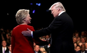 טראמפ, הילרי (צילום: חדשות 2)