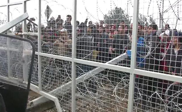 מחנה פליטים בצרפת (צילום: חדשות 2)