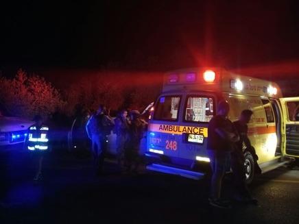 """חשד לרצח בברקן (צילום: דוברות מד""""א)"""