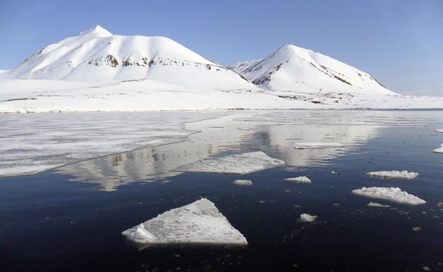 קרחונים נמסים בנורווגיה (צילום: חדשות 2)