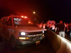 """זירת התאונה הקטלנית (צילום: דוד קליימן תיעוד מבצעי מד""""א)"""