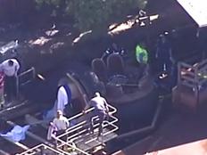 אסון בפארק שעשועים באוסטרליה (צילום: חדשות 2)