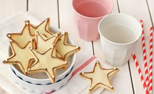 עוגיות כוכבים נוטלה (צילום: ענבל לביא ,אוכל טוב)