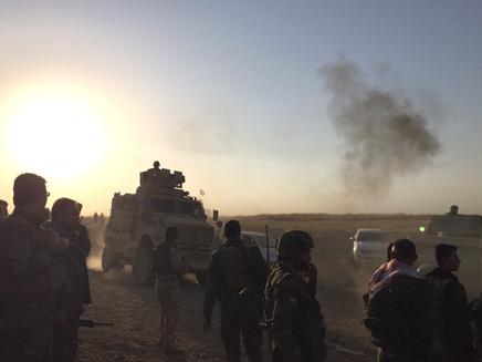 לוחמים כורדים במוסול (צילום: חדשות 2)