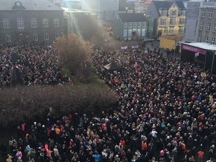 מחאת הנשים באיסלנד
