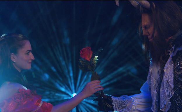 היפה והחיה – עוז זהבי ואניה בוקשטיין (צילום: אול סטייג' אורלי מויאל ומעין צלנר ,mako)