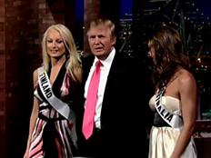 דונאלד טראמפ עם מיס פינלנד (צילום: חדשות 2)