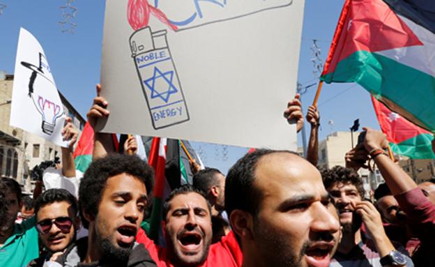 הפגנות בירדן נגד עסקת הגז (צילום: רויטרס)