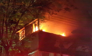 הדירה בה פרצה השריפה (צילום: איחוד הצלה)