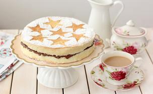 עוגת ספוג עם נוטלה (צילום: ענבל לביא ,אוכל טוב)