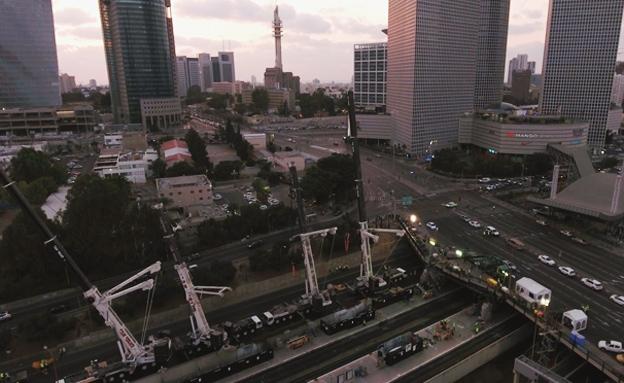 """עבודות השדרוג של תחנת הרכבת ת""""א השלום (צילום: רכבת ישראל)"""