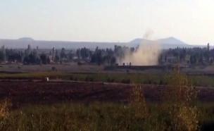 נפילות ברמת הגולן, בצד הסורי (צילום: חדשות 2)