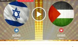 ישראל נגד פלסטין (צילום: צילום מסך פייסבוק)