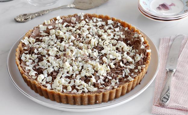 פאי שוקולד ללא אפייה (צילום: נטלי לוין ,אוכל טוב)