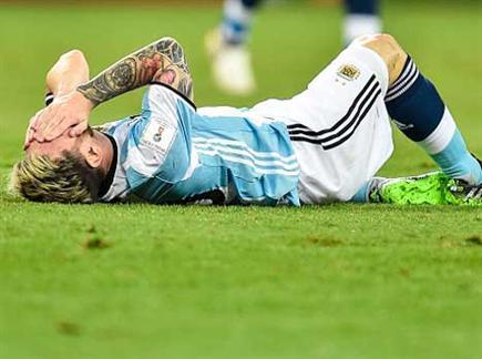 דפיקות לב בארגנטינה. מסי (Getty)(ספורט 5)