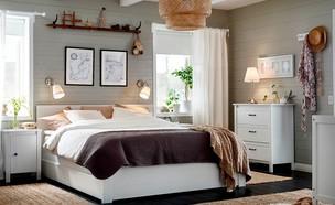 חדרי שינה 03, חדר שינה כפרי במראה חמים (צילום: יחצ איקאה)