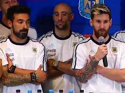 לא מוכנים להבליג. שחקני ארגנטינה (טוויטר)(ספורט 5)