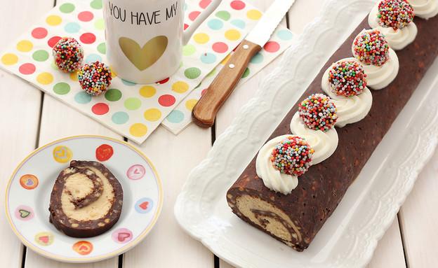 רולדת כדורי שוקולד פטנט (צילום: ענבל לביא ,אוכל טוב)