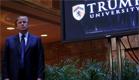 טראמפ מחוץ לאוניברסיטה (צילום: CNN)