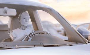 רובוט נוהג במכונית (צילום: ShutterStock ,ShutterStock)