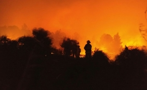 """השריפה בנווה שלום (צילום: כב""""ה ירושלים)"""