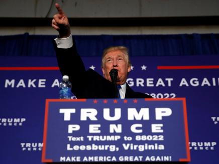 טראמפ במהלך הקמפיין