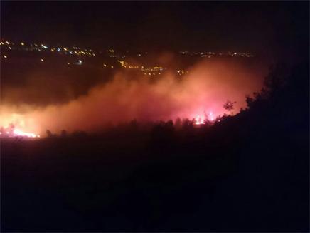 השריפה בטלמון, אמש