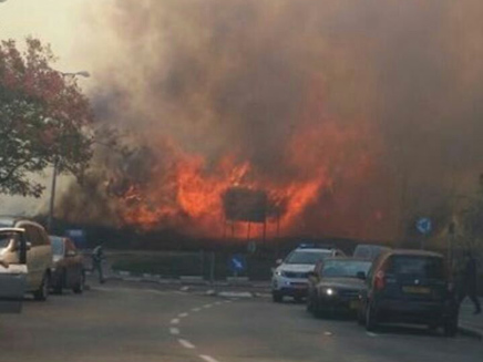 השריפה הבוקר בחיפה