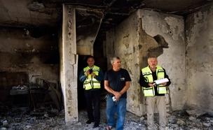 הנזקים בשריפה בחיפה (צילום: Gili Yaari \ פלאש 90)
