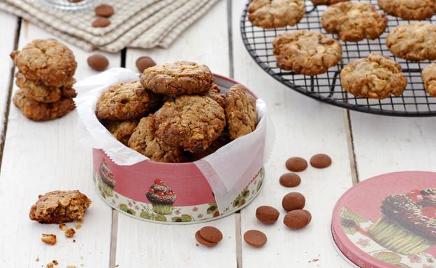 עוגיות שוקולד, קפה וקשיו (צילום: נטלי לוין ,אוכל טוב)