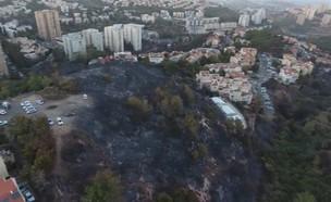 השריפה בחיפה – תמונת מצב (צילום: ZAZKNI ,ZAZKNI יוטיוב)