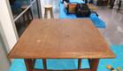 סדנה02, השולחן לפני השיפוץ (צילום: עופרי פז)