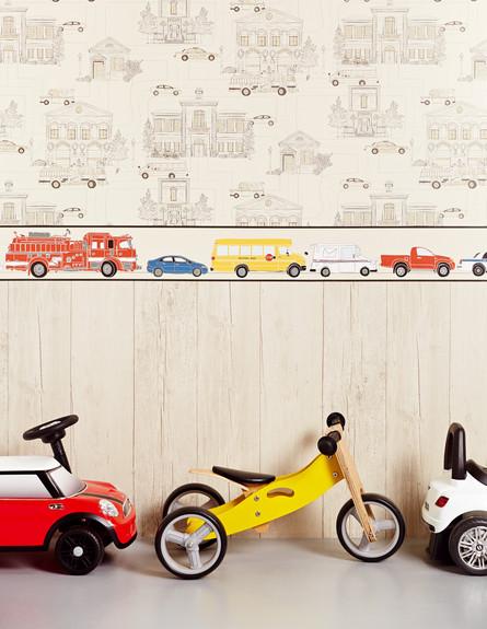 טפטים, צעצועים על הקיר, 62  שקל למטר _להשיג בגולדשטיין גלרי טפט