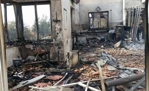ההרס שאחרי השריפה (צילום: חדשות 2)