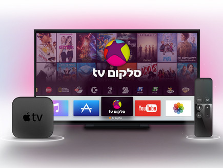 אפליקציית סלקום TV באפל TV (עיבוד: יחסי ציבור ,יחסי ציבור)