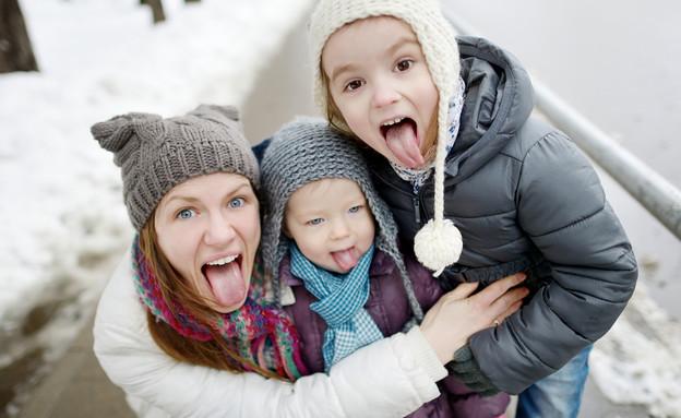 משפחה חורף  (צילום: shutterstock ,shutterstock)