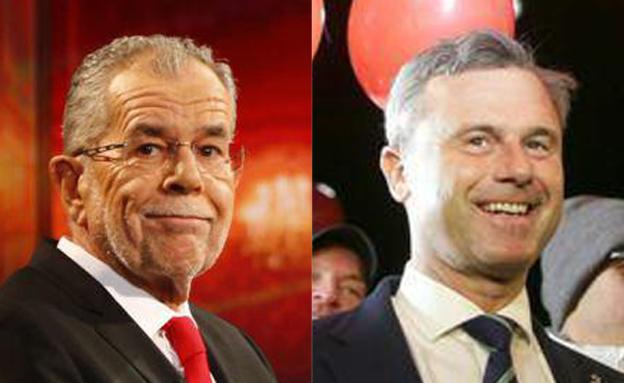 נורברט הופר (מימין) ואלכסנדר ואן דר בלן (צילום: SkyNews)