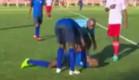 שחקן כדורגל מת (צילום: יוטיוב)